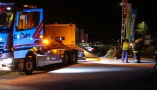 Bei Verkehrsunfall in Wels-Lichtenegg Stra�enbeleuchtung gerammt