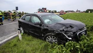 Acht teilweise Schwerverletzte bei Verkehrsunfall auf der Voralpenstra�e in Kremsm�nster