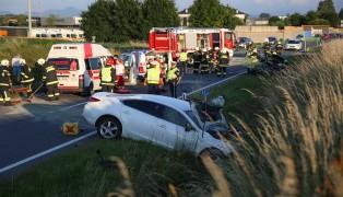 T�dlicher Crash auf der Pyhrnpass Stra�e in Sattledt