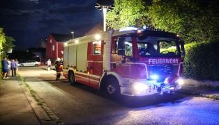 Thujenhecke in Wels-Vogelweide in Brand gesetzt