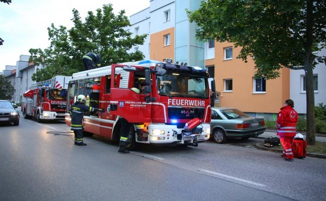 Einsatz wegen angebranntem Kochgut in einer Mehrparteienhauswohung in Wels-Neustadt