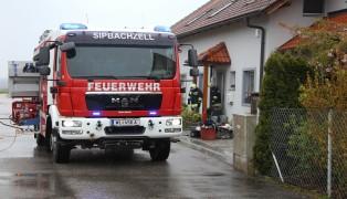 Brand eines W�schetrockners im Keller eines Einfamilienhauses in Sipbachzell
