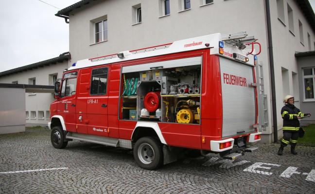 Brandeinsatz im Gebäude der Volksschule in Pollham