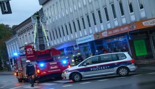 Feuerwehr bei Brandverdacht in Wels-Innenstadt im Einsatz