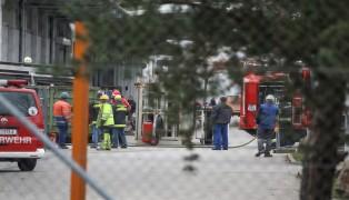 Containerbrand nach Bauarbeiten auf Betriebsgelände in Wels-Pernau