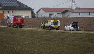 Überschlag mit Auto in Buchkirchen endet glimpflich
