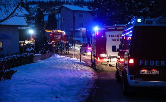 Feuerwehreinsatz durch starke Rauchentwicklung in Krenglbach