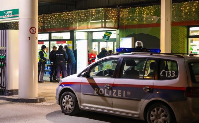 Räuber unmittelbar nach Überfall auf Tankstelle in Wels-Pernau festgenommen