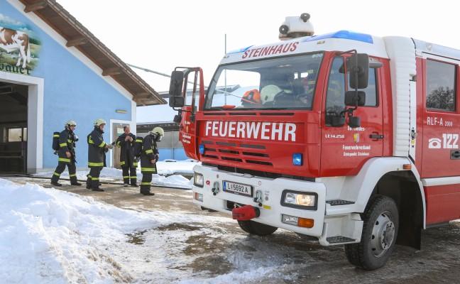 Kleinbrand in einem Stall in Steinhaus von der Feuerwehr rasch abgelöscht