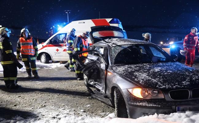 Schwerer Verkehrsunfall in Buchkirchen fordert ein verletztes Kind