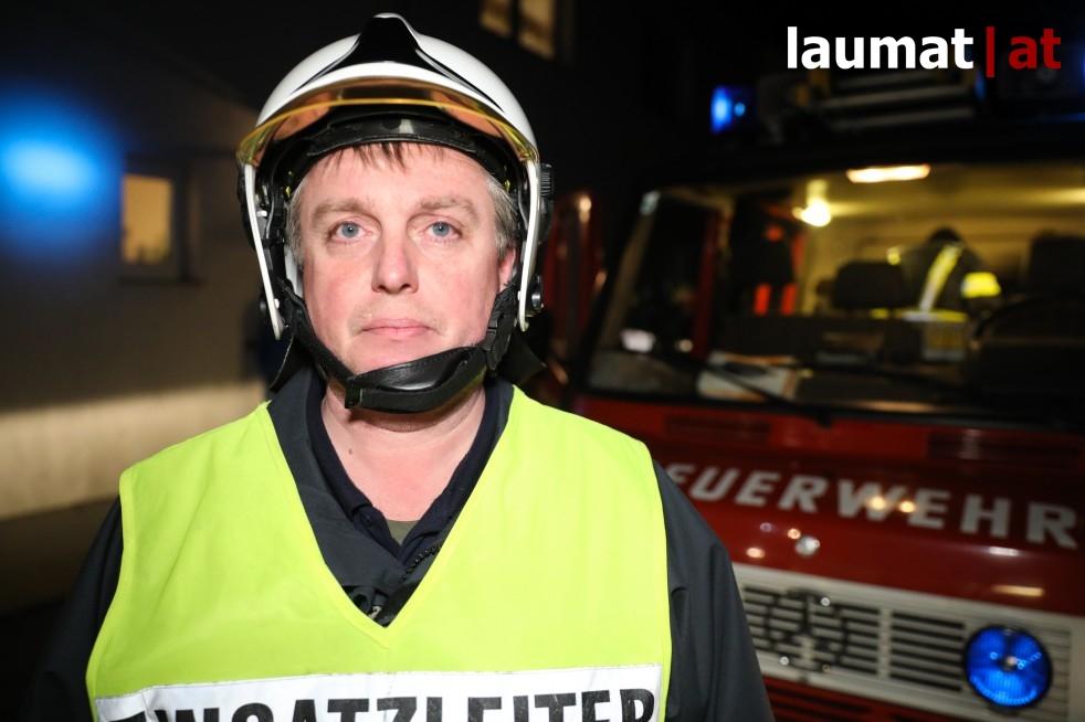 Thomas Mörtenbäck, Einsatzleiter der Feuerwehr Fraham