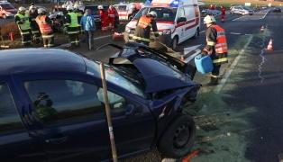 Verkehrsunfall auf der Pyhrnpass Straße bei Steinhaus fordert zwei Verletzte