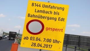 Gmundener Straße in Edt bei Lambach wird für knapp einen Monat gesperrt