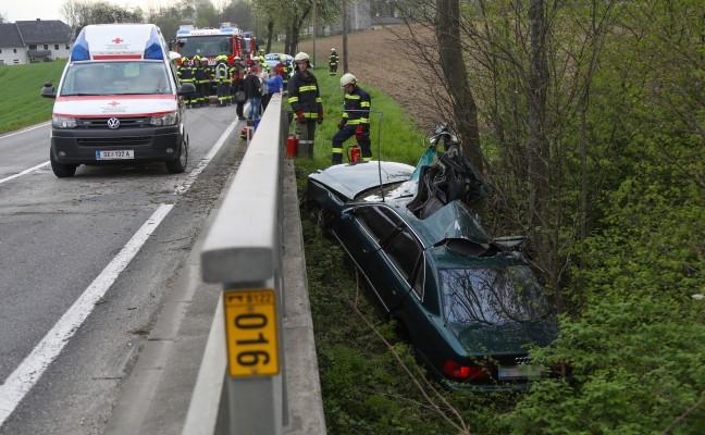 Schwerer Verkehrsunfall in Rohr im Kremstal fordert einen Verletzten