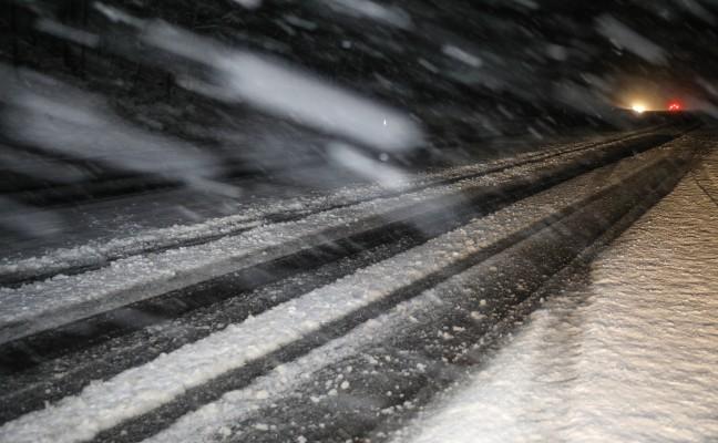 Starker Schneefall sorgte in Teilen Oberösterreichs für Verkehrsbehinderungen