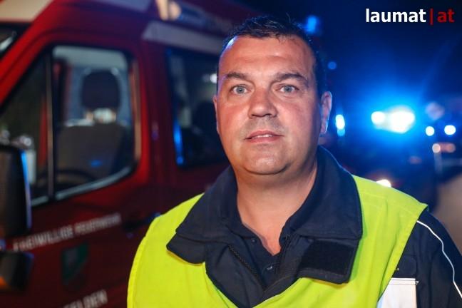 Robert Kurasch, Einsatzleiter Feuerwehr Ansfelden