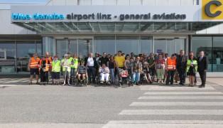 """Toller Aktionstag """"Überblick trotz Handicap"""" am Flughafen Linz-Hörsching"""