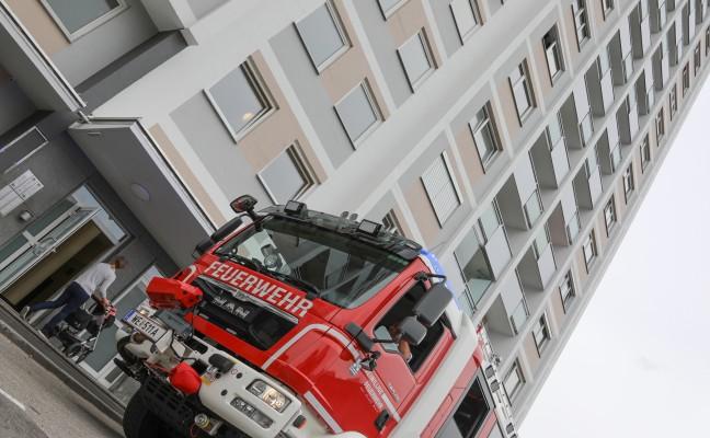 Brandmeldealarm im Maria-Theresia-Hochhaus glücklicherweise nur Täuschungsalarm