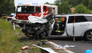 Verkehrsunfall auf der Salzkammergutstraße bei Ohlsdorf fordert fünf teils Schwerverletzte