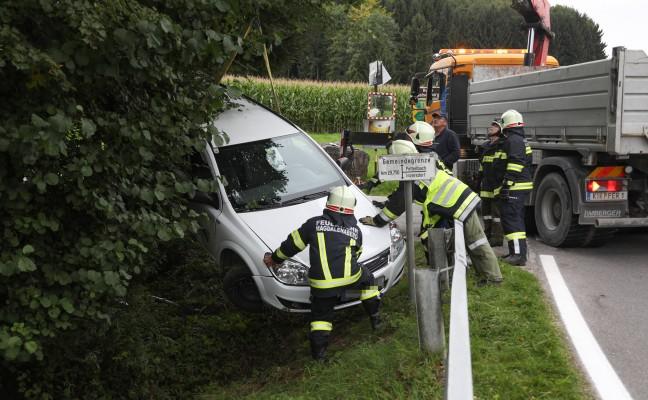 Verkehrsunfall auf der Scharnsteiner Straße in Pettenbach fordert eine verletzte Person