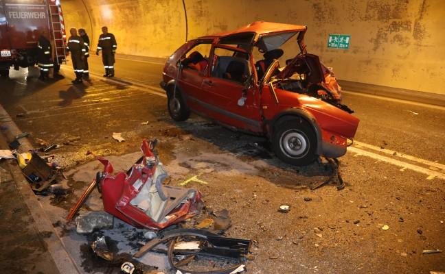 Ein Toter und acht Verletzte bei Frontalcrash auf der Pyhrnautobahn bei St. Pankraz