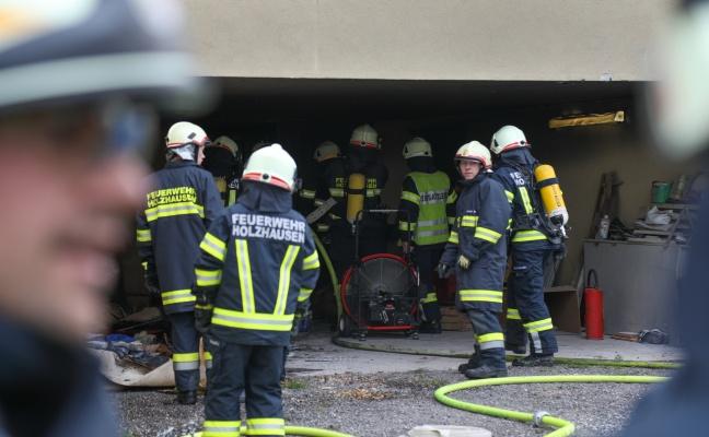 Brand im Heizraum eines Hauses in Holzhausen sorgt für Einsatz der Feuerwehr