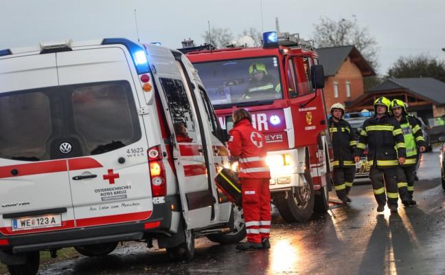 Verkehrsunfall in Gunskirchen fordert eine Leichtverletzte