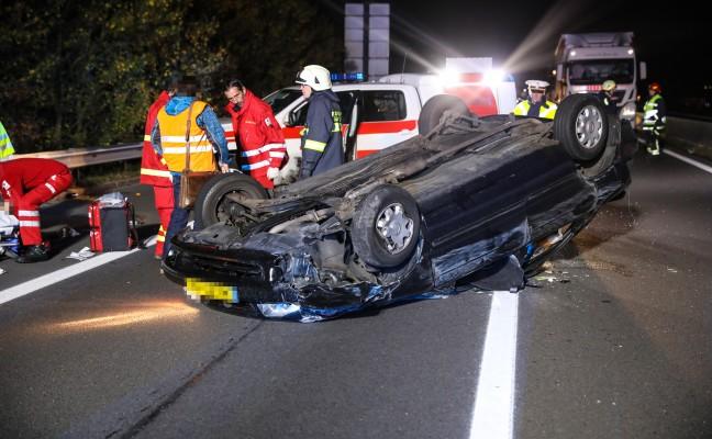 Schwerer Verkehrsunfall auf der Pyhrnautobahn bei Sattledt