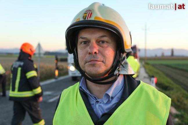 Hermann Huber, Einsatzleiter Feuerwehr Schiedlberg