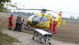 Notarzthubschrauber nach schwerem Sturz von der Leiter in Hörsching im Einsatz