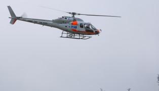 Notarzthubschrauber nach schwerem Arbeitsunfall in Pettenbach im Einsatz