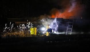 Brand einer Saunahütte in Wallern an der Trattnach