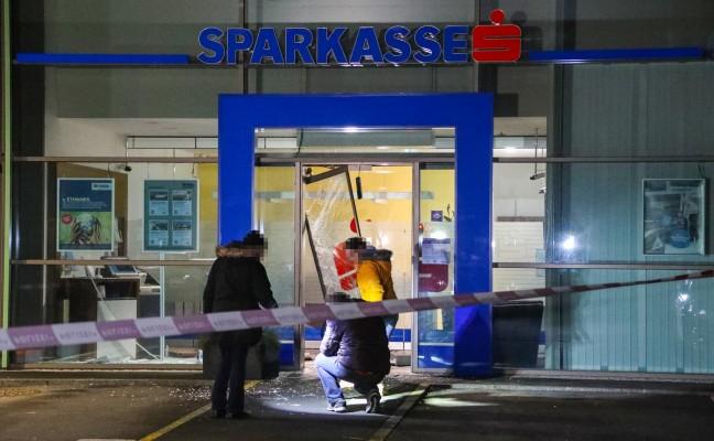 Nächtlicher Bankomatcoup in einer Bankfiliale in Buchkirchen