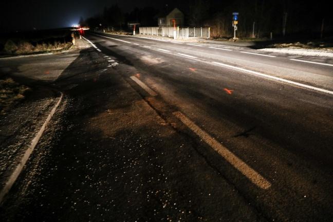 Kollision auf der Eferdinger Straße in Alkoven endet glimpflich