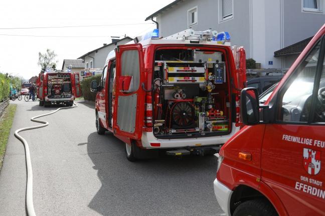 Brand eines Hauszubaues in Fraham rasch gelöscht