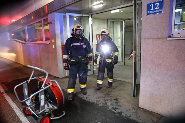 Brand eines Versuchsofens der Fachhochschule in Wels-Innenstadt