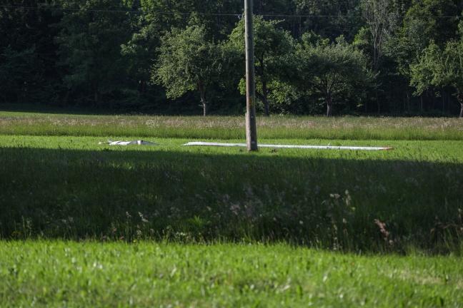 Absturz eines Motorseglers in Scharnstein endet glimpflich