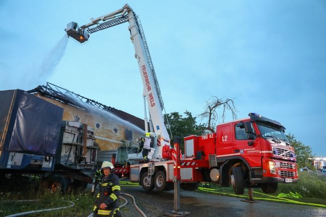 Großbrand auf Bauernhof in Wallern an der Trattnach