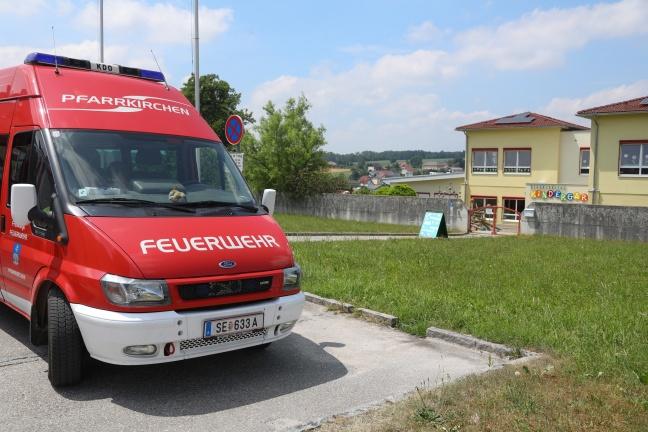 Schlange im Garten des Kindergartens in Pfarrkirchen bei Bad Hall sorgte für Einsatz der Feuerwehr