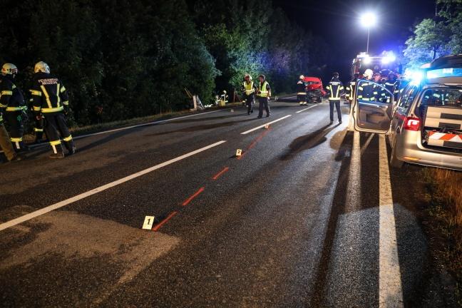 Crash auf Voralpenstraße in Sierning fordert zwei Verletzte