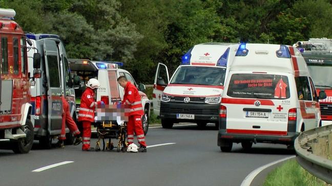 Frontalcrash auf Voralpenstraße in Steyr fordert eine Schwerverletzte