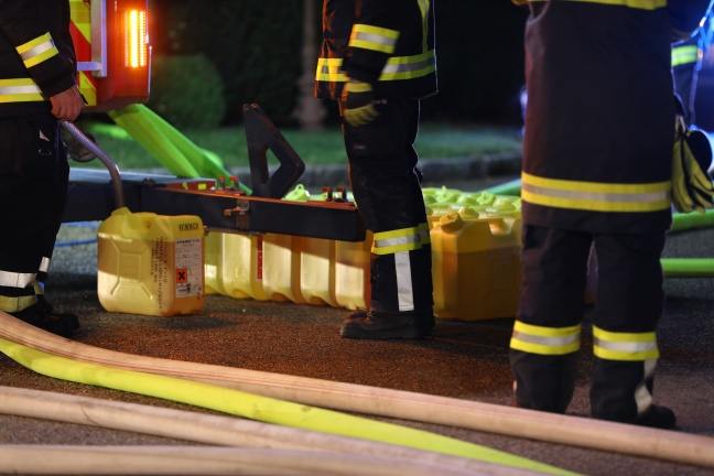 Brand auf Bauernhof in Thalheim bei Wels
