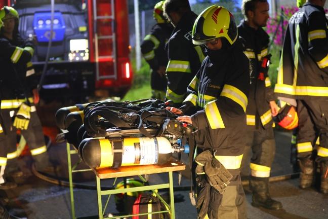 Hund bei Kellerbrand in Edt bei Lambach aus verrauchtem Haus gerettet