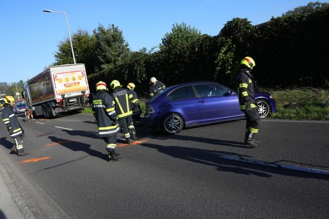 Unfallbeteiligter nach Kollision zwischen PKW und LKW in Edt bei Lambach äußerst ungehalten