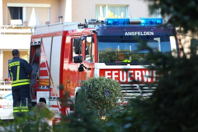 Rauchentwicklung aus Fenster einer Wohnung in Ansfelden durch angebranntes Kochgut