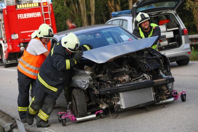 Verkehrsunfall in Sattledt endet glimpflich