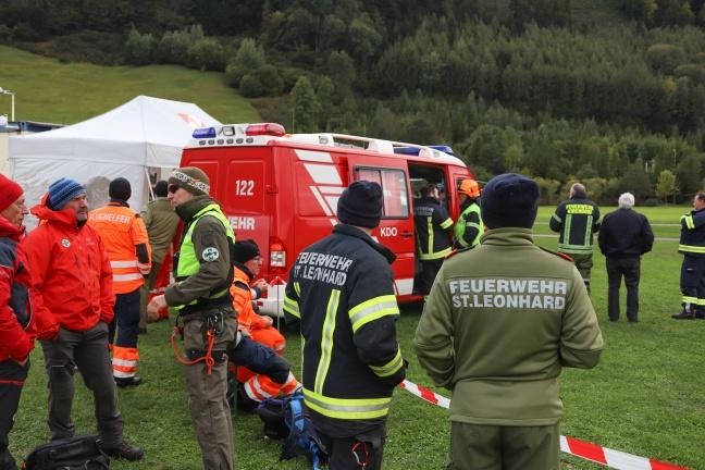 Flughelfer der Feuerwehren übten im Kremstal verschiedene Einsatzszenarien bei Waldbränden