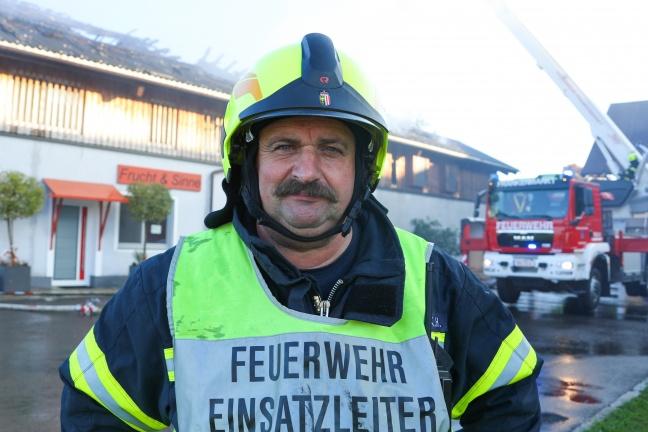 Großeinsatz für 15 Feuerwehren bei Brand einer Schokoladenmanufaktur in Frankenmarkt