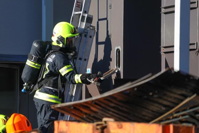 Brand einer Filteranlage eines Unternehmens in Sipbachzell