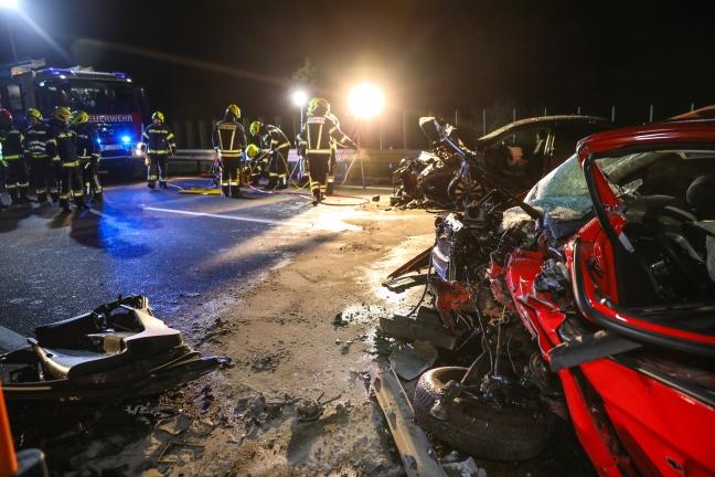 Tödlicher Frontalcrash auf Steyrer Straße in Hargelsberg